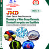 Dinesh JMD SSS in Chemistry of Main Group Elements,  Chemical Energetics and Equilibria B.Sc. II (H.P.U.)