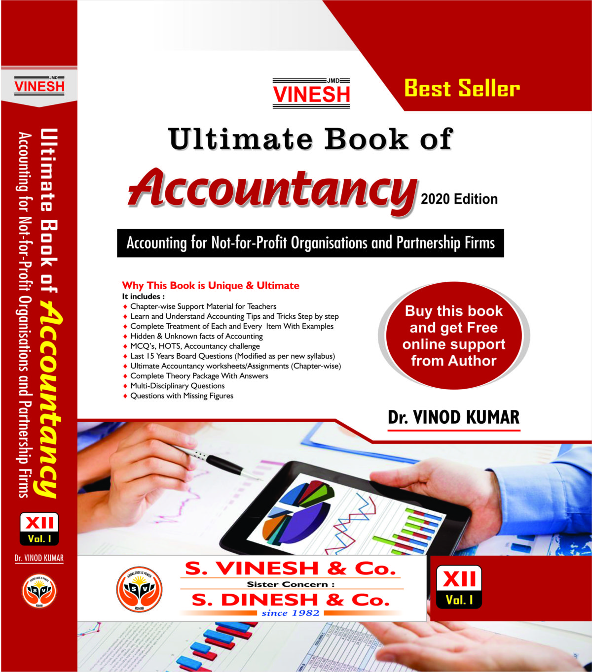 Vinesh ultimate book of Accountancy for companions class XII cbse vol. I