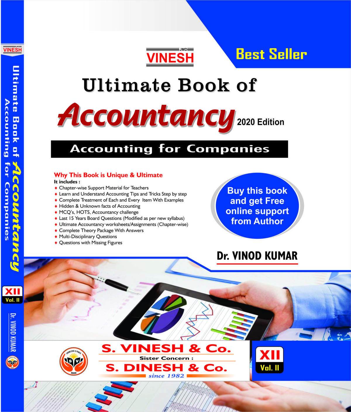 Vinesh Ultimate Book of Accountancy For Class 12th- Vol-II